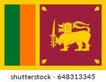 vector sri lanka flag  sri... | Shutterstock .eps vector #648313345