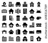 estate icons set. set of 36... | Shutterstock .eps vector #648316789