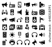 speaker icons set. set of 36... | Shutterstock .eps vector #648318391
