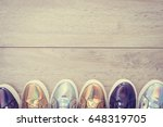 fashion shoes and sneaker on...   Shutterstock . vector #648319705