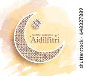 hari raya aidilfitri greeting... | Shutterstock .eps vector #648327889
