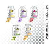 set of template dietary... | Shutterstock .eps vector #648332191