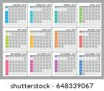 planner calendar for 2018 year. ... | Shutterstock .eps vector #648339067