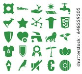 emblem icons set. set of 25... | Shutterstock .eps vector #648339205