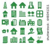 estate icons set. set of 25... | Shutterstock .eps vector #648341311