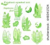 eco logo. sign of a vegetarian... | Shutterstock .eps vector #648341524