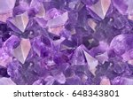 macro photo of lilac amethyst... | Shutterstock . vector #648343801