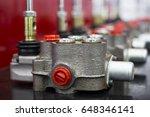 aluminum gravity die casting... | Shutterstock . vector #648346141