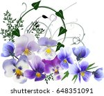 illustration with decoration... | Shutterstock .eps vector #648351091