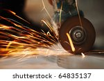 metal sawing close up | Shutterstock . vector #64835137