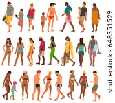 beach people vector illustration | Shutterstock .eps vector #648351529