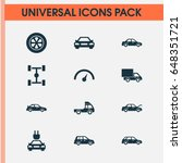auto icons set. collection of... | Shutterstock .eps vector #648351721