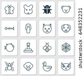 animal icons set. collection of ... | Shutterstock .eps vector #648352231