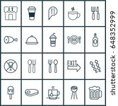 meal icons set. collection of... | Shutterstock .eps vector #648352999