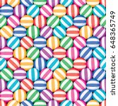 vector seamless candy... | Shutterstock .eps vector #648365749