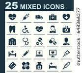 drug icons set. collection of... | Shutterstock .eps vector #648366277