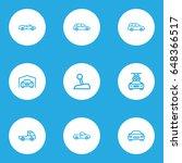car outline icons set....   Shutterstock .eps vector #648366517