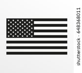usa flag icon. black and white... | Shutterstock . vector #648368011