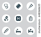 medicine icons set. collection...   Shutterstock .eps vector #648368635