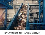 waste processing plant.... | Shutterstock . vector #648368824