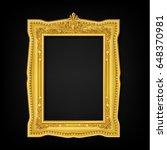 vintage gold picture frame | Shutterstock .eps vector #648370981