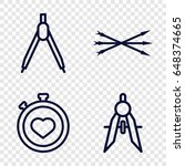 precision icons set. set of 4... | Shutterstock .eps vector #648374665