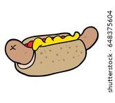 cartoon fresh tasty hot dog   Shutterstock .eps vector #648375604