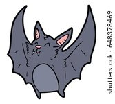 cartoon vampire halloween bat | Shutterstock .eps vector #648378469