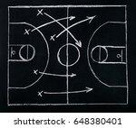 basketball play tactics... | Shutterstock . vector #648380401