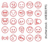 emotion icons set. set of 25... | Shutterstock .eps vector #648381991