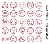 emotion icons set. set of 25... | Shutterstock .eps vector #648381991