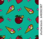 kids  cartoon seamless pattern. ... | Shutterstock . vector #648382387