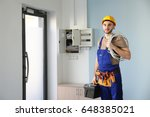 Young Electrician With Bunch O...
