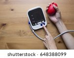 measuring blood pressure and... | Shutterstock . vector #648388099