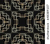 seamless pattern in art deco... | Shutterstock .eps vector #648389107
