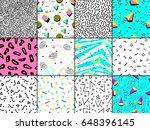 universal memphis 80 90... | Shutterstock .eps vector #648396145