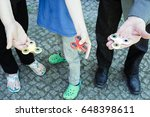 family with three generations... | Shutterstock . vector #648398611