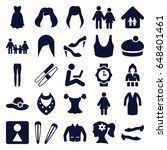 set of 25 woman filled icons... | Shutterstock .eps vector #648401461