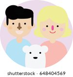 happy family icon vector... | Shutterstock .eps vector #648404569