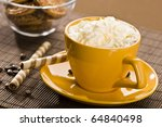 still life with yellow cup of... | Shutterstock . vector #64840498