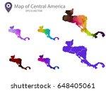 set of central america maps...   Shutterstock .eps vector #648405061