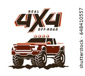 off road monster truck pickup.... | Shutterstock . vector #648410557
