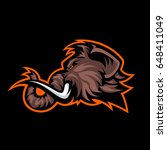 furious woolly mammoth head... | Shutterstock .eps vector #648411049