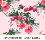 beautiful seamless vector... | Shutterstock .eps vector #648412069