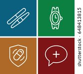swiss icons set. set of 4 swiss ...   Shutterstock .eps vector #648413815
