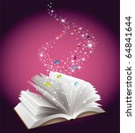 open book with magic fairy dust ... | Shutterstock .eps vector #64841644