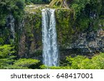 chamarel waterfall in the... | Shutterstock . vector #648417001