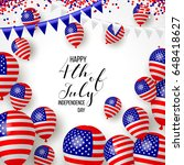 happy independence day of usa ...   Shutterstock .eps vector #648418627