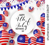 happy independence day of usa ... | Shutterstock .eps vector #648418639