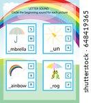letter sound kids printable... | Shutterstock .eps vector #648419365